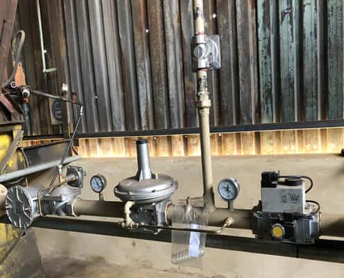 pressure reducing valve station